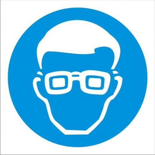 Табела или стикер Задължително използването на Предпазни очила модел 24069