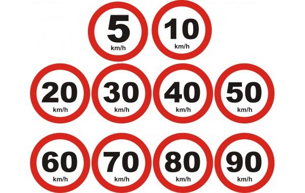 Табела или стикер ЗАБРАНЕНО с повече км в час модел 24080