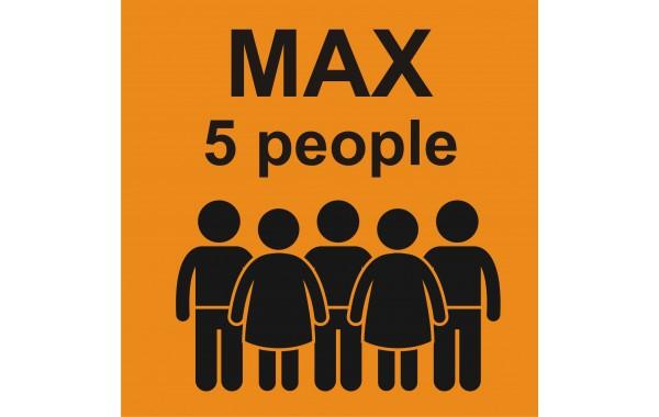 Табела или стикер Товароносимост максимум пет човека модел 24136