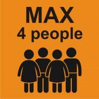 Табела или стикер Товароносимост максимум четири човека модел 24256