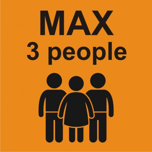 Табела или стикер Товароносимост максимум три човека модел 24257