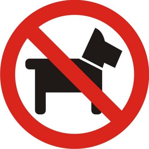 Табела или стикер Забранено за кучета модел 24024