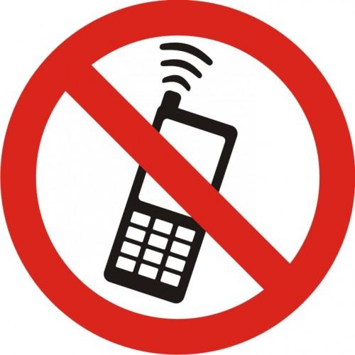 Табела или стикер Забранено ползването на мобилни телефони модел 24026