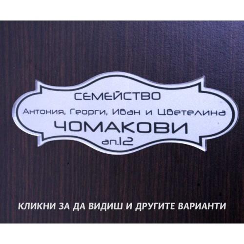 Табелка или стикер за врата апартамент пощенска кутия модел 24501