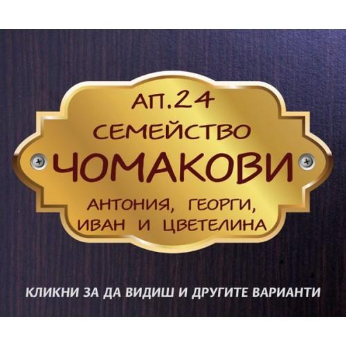 Табелка или стикер за врата апартамент пощенска кутия модел 24506