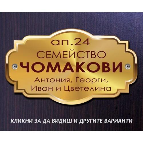 Табелка или стикер за врата апартамент пощенска кутия модел 24507