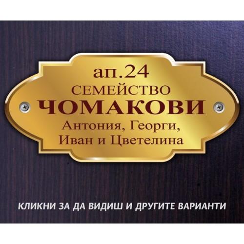 Табелка или стикер за врата апартамент пощенска кутия модел 24509