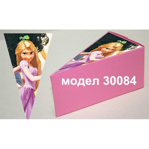 Парченце от Хартиена торта Модел 30084 не сглобена розова кутийка с картинка от Рапунцел и Разбоиника
