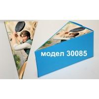 Парченце от Хартиена торта Модел 30085 не сглобена синя кутийка с картинка от Рапунцел и Разбоиника