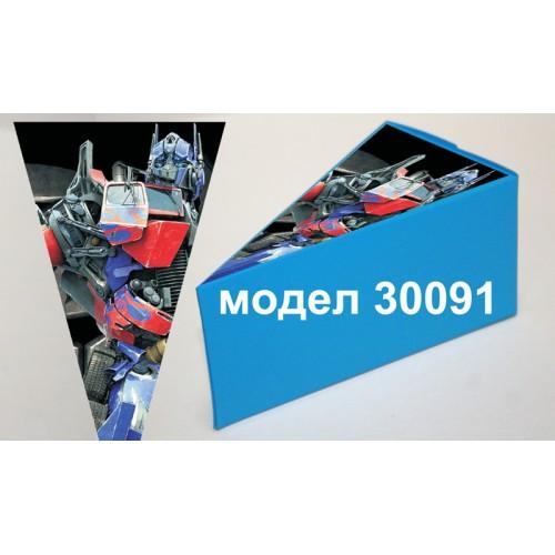 Парченце от Хартиена торта Модел 30091 не сглобена синя кутийка с картинка на Трансформърс