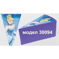 Парченце от Хартиена торта Модел 30094 не сглобена лилава кутийка с картинка на принцеса