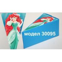 Парченце от Хартиена торта Модел 30095 не сглобена синя кутийка с картинка на принцеса