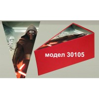 Парченце от Хартиена торта Модел 30105 не сглобена червена кутийка с картинка от Междузвездни войни