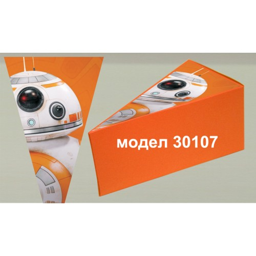 Парченце от Хартиена торта Модел 30107 не сглобена оранжева кутийка с картинка от Междузвездни войни