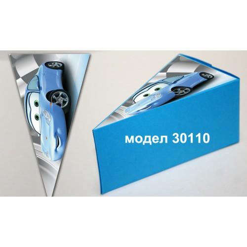 Парченце от Хартиена торта Модел 30110 не сглобена синя кутийка с картинка колите