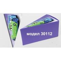 Парченце от Хартиена торта Модел 30112 не сглобена лилава кутийка с картинка колите