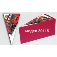 Парченце от Хартиена торта Модел 30115 не сглобена червена кутийка с картинка Маккуин