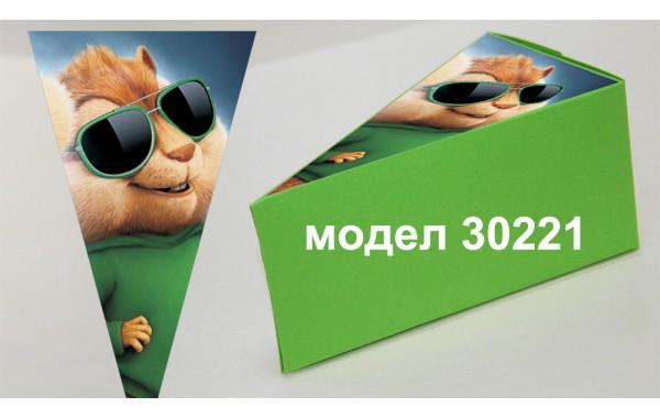 Парченце от Хартиена  торта  Модел 30221 не сглобена зелена кутийка с картинка Aлвин и Чипоносковците