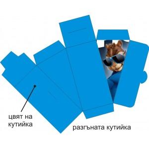 Парченце от Хартиена  торта  Модел 30223 не сглобена синя кутийка с картинка Aлвин и Чипоносковците