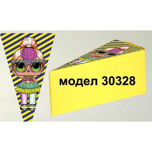 Парченце от Хартиена  торта модел 30328 не сглобена жълта кутийка с картинка ЛОЛ