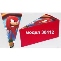 Парченце от Хартиена  торта Модел 30412 не сглобена червена кутийка с картинка