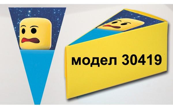 Парченце от Хартиена  торта  Модел 30419 не сглобена жълта кутийка с картинка роблокс
