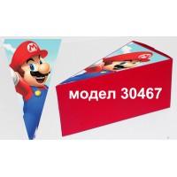 Парченце от Хартиена  торта  Модел 30467 не сглобена червена кутийка с картинка Супер Марио