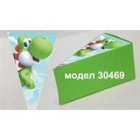 Парченце от Хартиена  торта  Модел 30469 не сглобена червена кутийка с картинка от Супер Марио