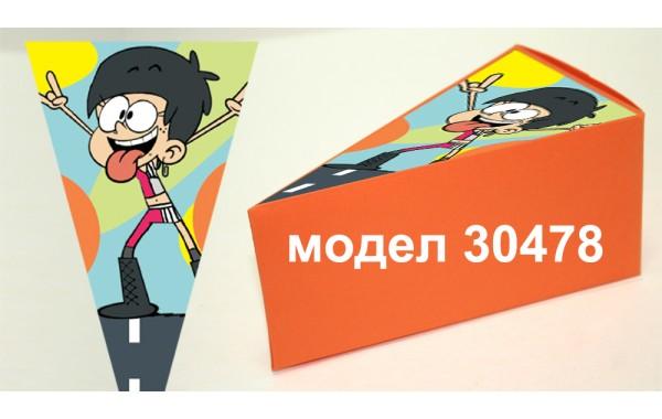 Парченце от Хартиена торта Модел 30478 не сглобена оранжева кутийка с картинка Шумникови