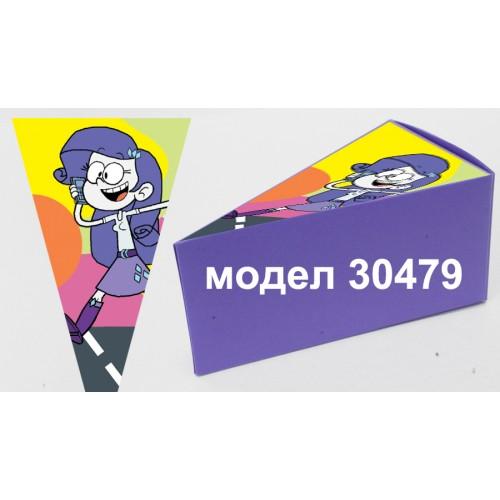 Парченце от Хартиена торта Модел 30479 не сглобена лилава кутийка с картинка Шумникови
