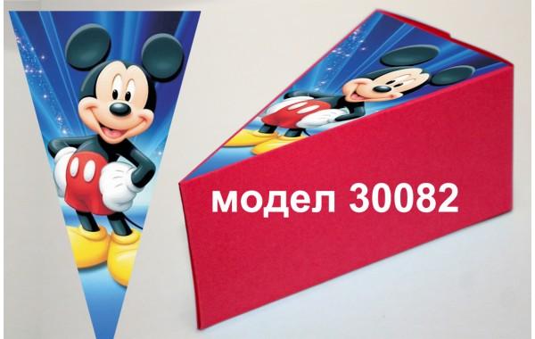 Парченце от Хартиена торта Модел 30082 не сглобена червена кутийка с картинка