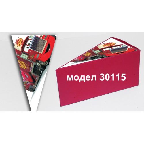 Парченце от Хартиена  торта с украса колите по избор Модел 30115