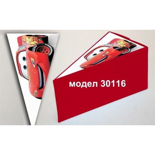 Парченце от Хартиена  торта с украса колите по избор Модел 30116