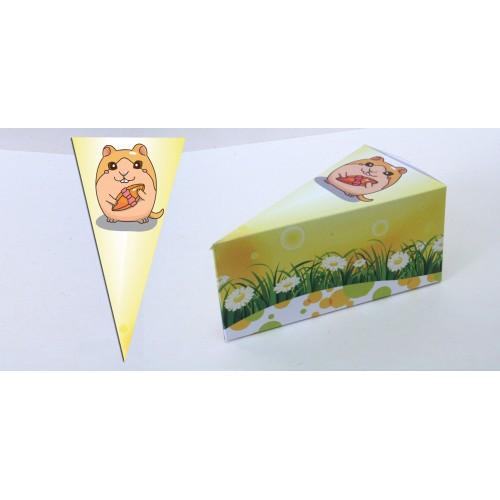 Парченце от Хартиена торта с украса Любими Животни Модел 30142 мишок