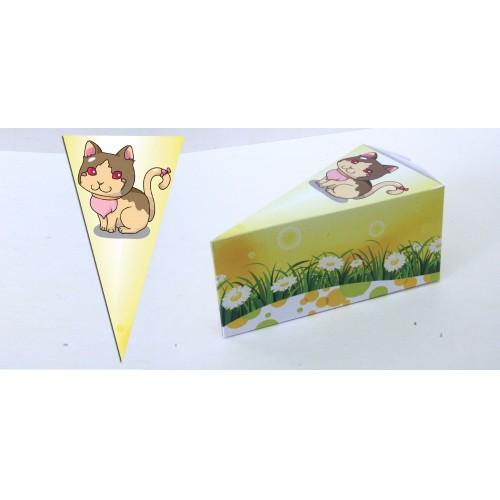 Парченце от Хартиена торта с украса Любими Животни Модел 30143 коте
