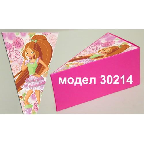 Парченце от Хартиена  торта с украса по избор Модел 30214