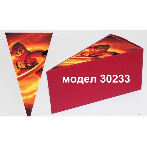 Парченце от Хартиена  торта с украса по избор Модел 30233