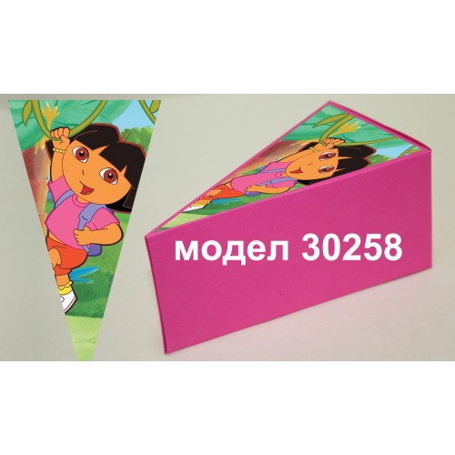 Парченце от Хартиена  торта с украса по избор Модел 30258