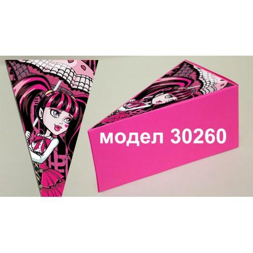 Парченце от Хартиена  торта с украса по избор Модел 30260