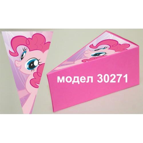 Парченце от Хартиена  торта с украса по избор Модел 30271