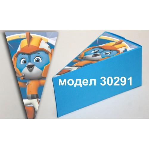 Парченце от Хартиена  торта Модел 30291 не сглобена синя кутийка с картинка