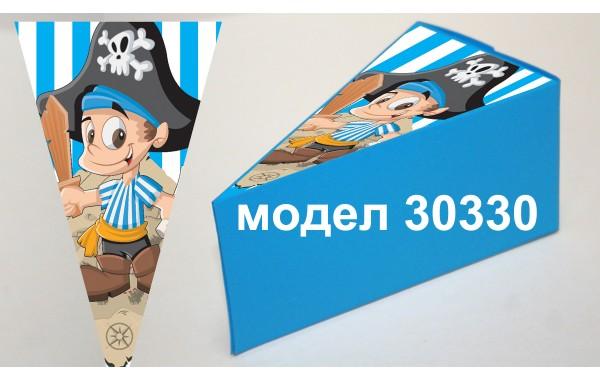 Парченце от Хартиена  торта с украса по избор Модел 30330 пират