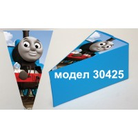 Парченце от Хартиена  торта Модел 30425 не сглобена синя кутийка с картинка