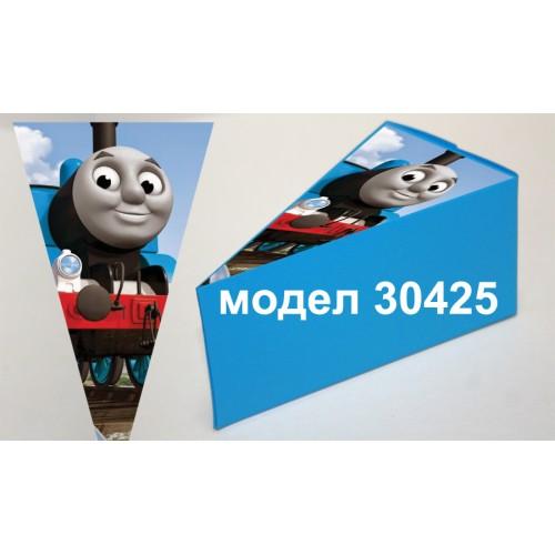 Парченце от Хартиена  торта Модел 30425 не сглобена синя кутийка с картинка  влакчето Томас