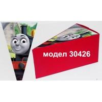 Парченце от Хартиена  торта Модел 30426 не сглобена червена кутийка с картинка