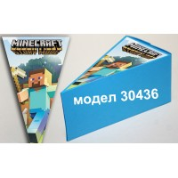 Парченце от Хартиена  торта Модел 30436 не сглобена синя кутийка с картинка