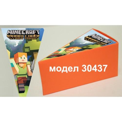 Парченце от Хартиена  торта Модел 30437 не сглобена оранжева кутийка с картинка