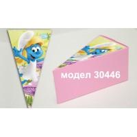 Парченце от Хартиена  торта Модел 30446 не сглобена бледо розова кутийка с картинка