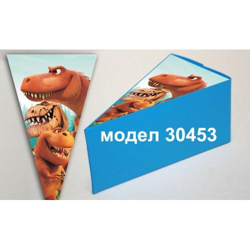 Парченце от Хартиена  торта Модел 30453 не сглобена синя кутийка с картинка