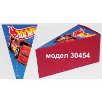 Парченце от Хартиена  торта Модел 30454 не сглобена червена кутийка с картинка